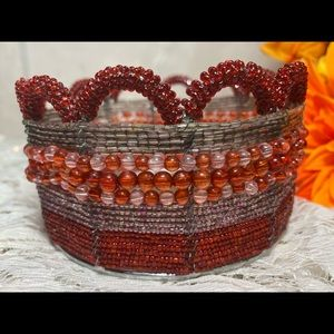 Beaded Jewelry Hair Clip Small Basket Holder